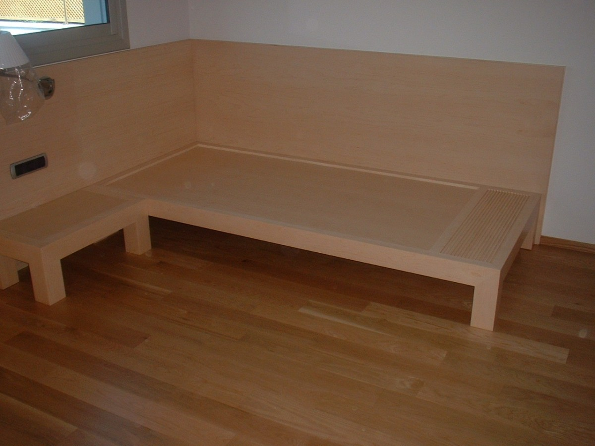 Fantástico Cama Los Muebles De Arce Componente - Muebles Para Ideas ...